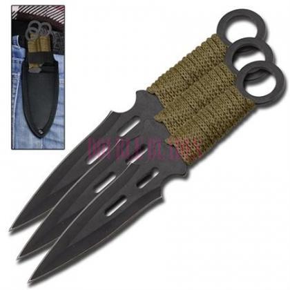 3-Pcs Kunai Flying FAlcon Throwing Knives Set