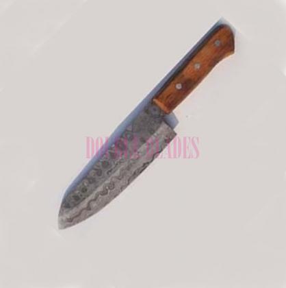 Damascus Chef Knife Wood Handle