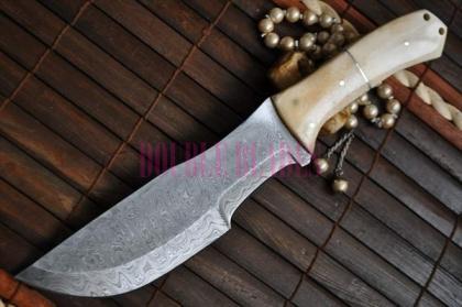 Custom Damascus Hunting Knife bowie knife