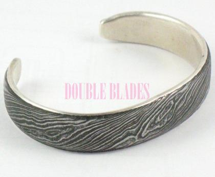 Handmade Damascus Steel Thin Bracelet