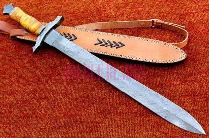 Damascus Steel Sword Full Tang