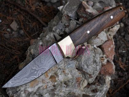 Handmade Damascus Camping Knife