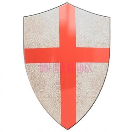 Medieval Crafted Templar Knights Red Cross Crusader Shield