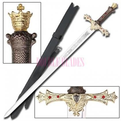 King Arthurs Excalibur Gold Medieval Sword