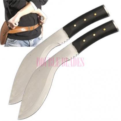 Resident Evil Extinction Dual Twin Machete Kukri Gurkha Knife Blades