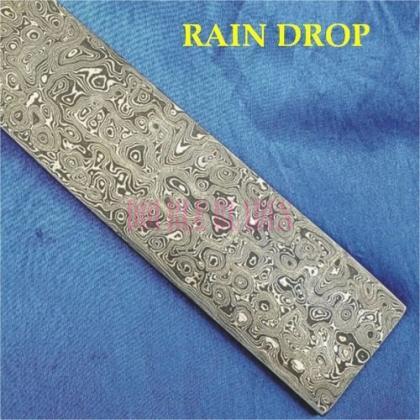 RAIN DROP design Damascus steel construction