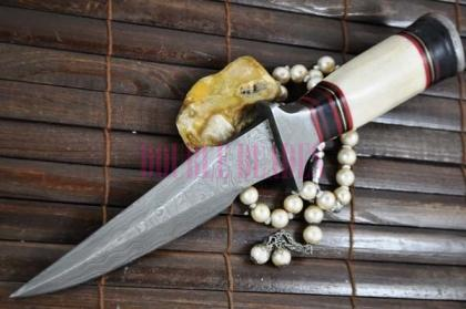 Damascus Hunting Knife Bowie Knife