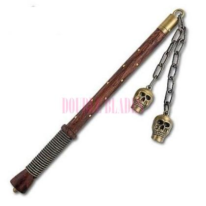 Medieval Double Skull Mace