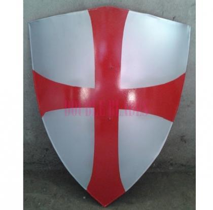Medieval Templar Knights Red Cross Crusader Shield