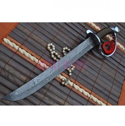 Custom Handmade Damascus Hunting Mini Sword