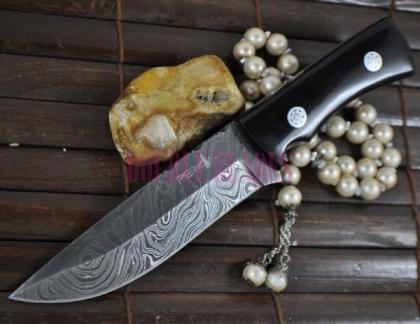 Bushcraft Knife Damascus Steel Full Tang -Work of Art