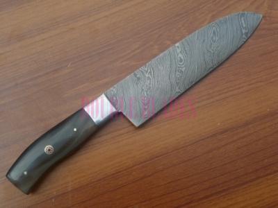 Damascus Kitchen Knife Wood Handle
