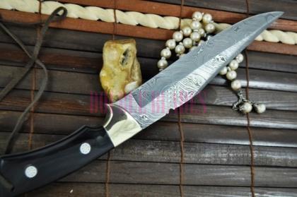 Custom Made Damascus Hunting Knife Bowie knife