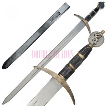 Rampant Lion Bravery Medieval Battle Sword