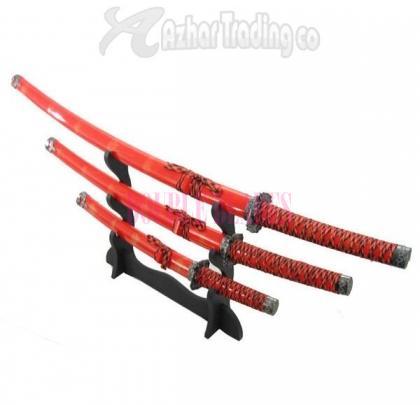 Samurai Dragon Sword Set of 3-Pcs