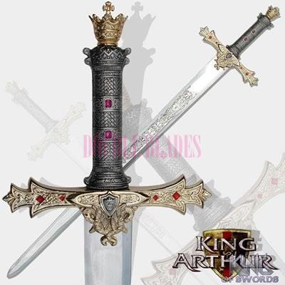 King Arthurs Excalibur Silver Medieval Sword