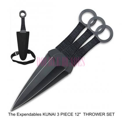 The Expendables Movie KUNAI 3 PIECE THROWER SET
